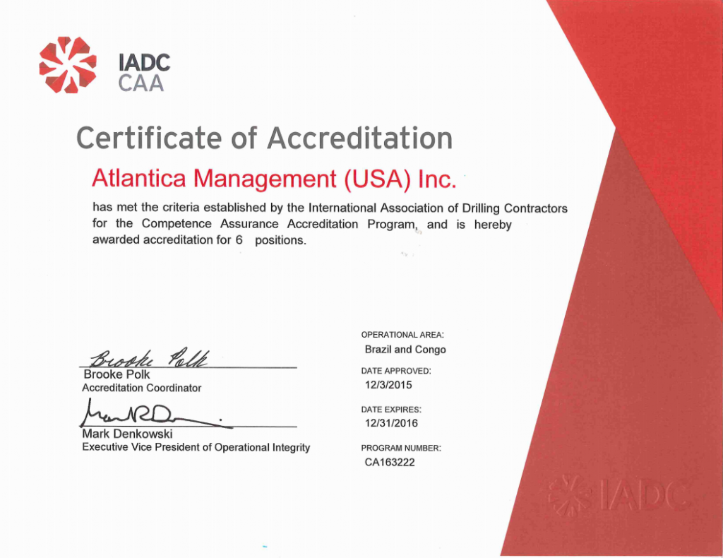 www.atlanticatd.com wp content uploads 2015 12 2015 12 03 IADC Certificate of Accreditation for Atlantica CMS CA163222.pdf